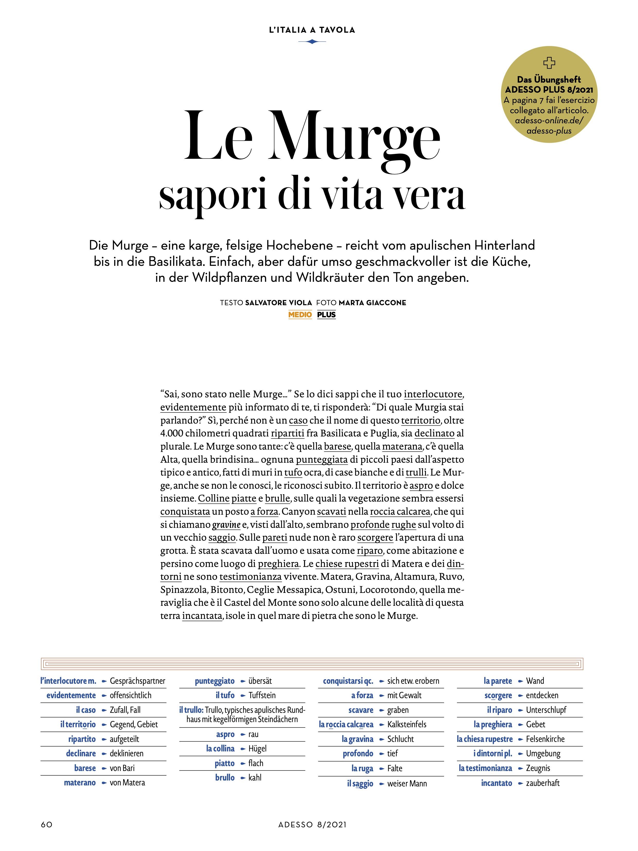 Marta Giaccone, ADESSO magazin, ZEIT, June 2021
