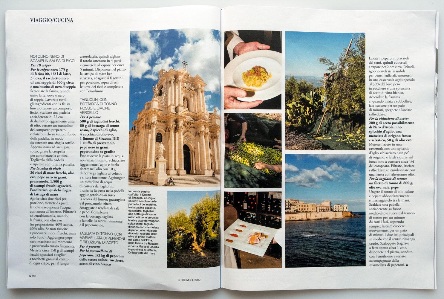 Marta Giaccone, food + travel editorial, D la Repubblica magazine, Dec 2020