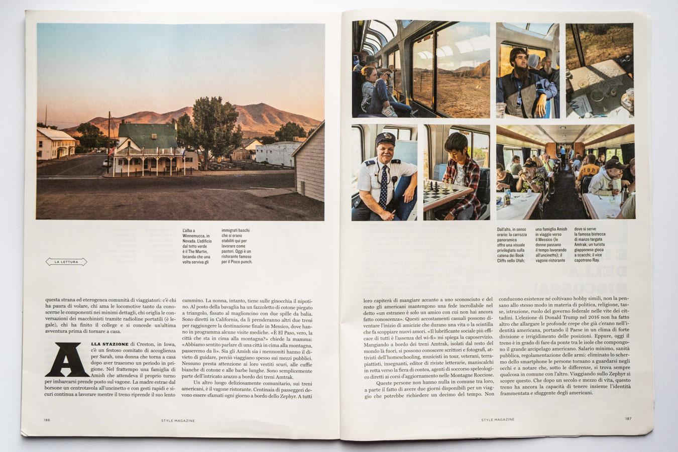 Marta Giaccone, California Zephyr travel reportage, Style Magazine Il Corriere della Sera, September 2019