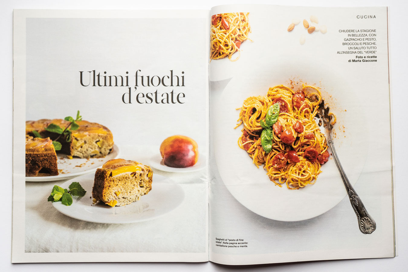 Marta Giaccone, food editorial, D la Repubblica magazine, September 2019