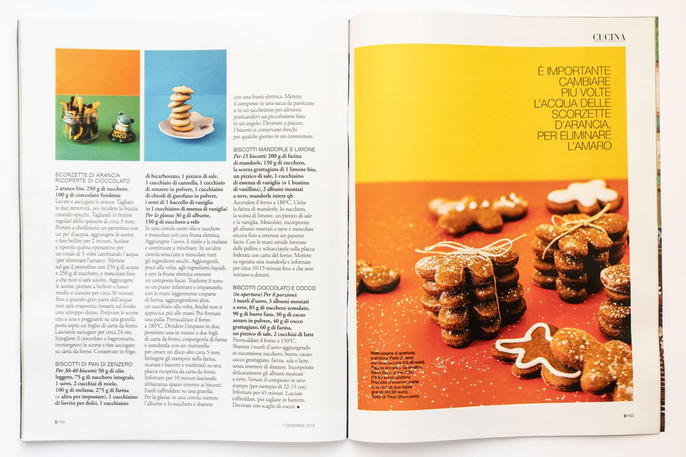 Marta Giaccone, food editorial, D la Repubblica magazine, December 2019
