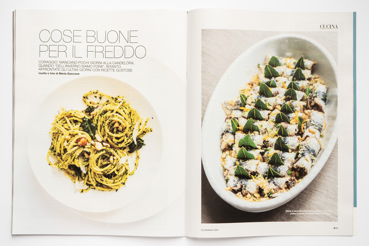 Marta Giaccone, food editorial, D la Repubblica magazine, January 2020